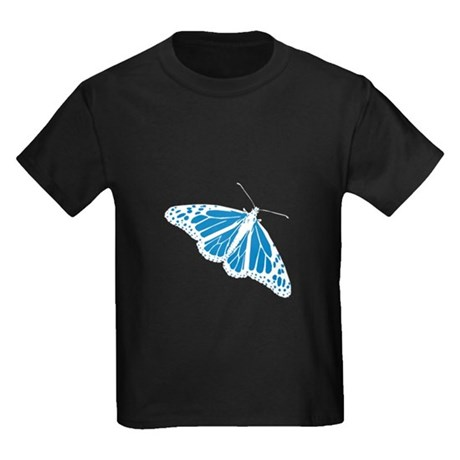 Blue Butterfly Kids Dark T-Shirt
