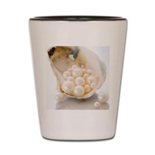 Studio shot of pearls in oyster Shot Glass