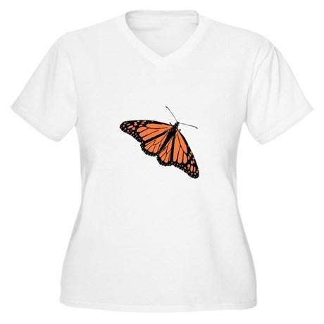 Butterfly Women's Plus Size V-Neck T-Shirt