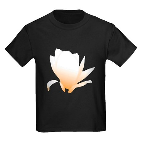 Pastel Orange Bloom Kids Dark T-Shirt