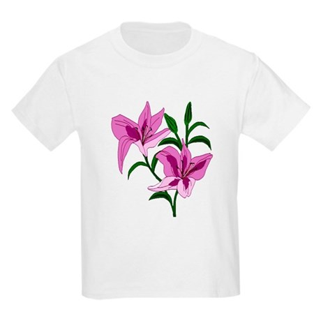 Pink Lilies Kids Light T-Shirt