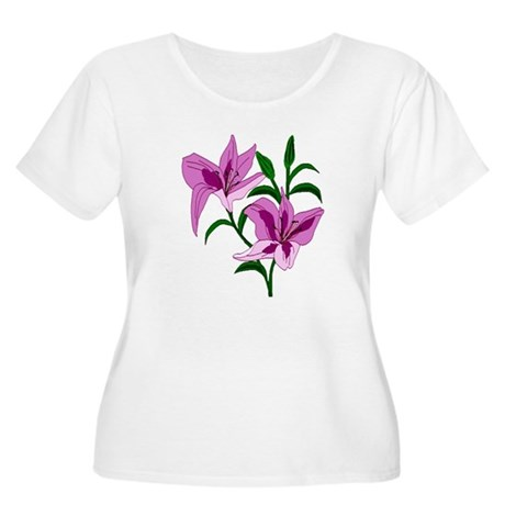 Pink Lilies Women's Plus Size Scoop Neck T-Shirt