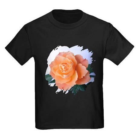 Orange Rose Kids Dark T-Shirt