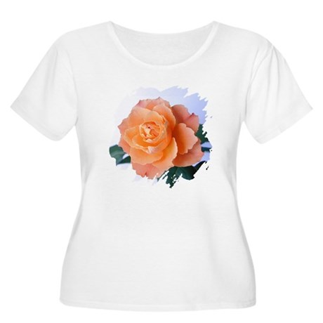 Orange Rose Women's Plus Size Scoop Neck T-Shirt
