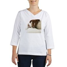 Jack Russell Terrier Lying on C Women's Long Sleeve Shirt (3/4 Sleeve)