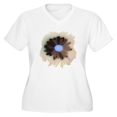 Country Daisy Women's Plus Size V-Neck T-Shirt