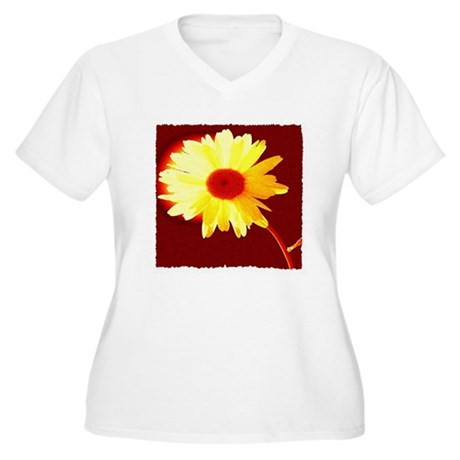 Hot Daisy Women's Plus Size V-Neck T-Shirt