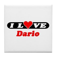 I Love Dario Tile Coaster