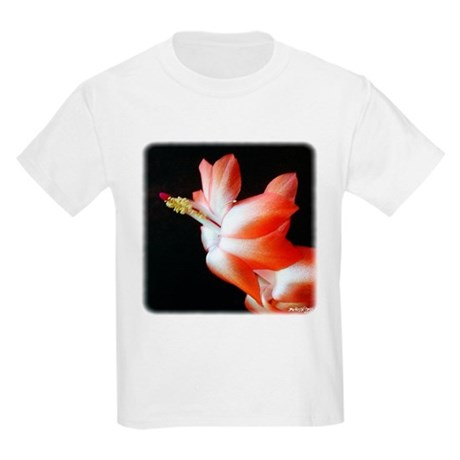 Orange Christmas Cactus Kids Light T-Shirt