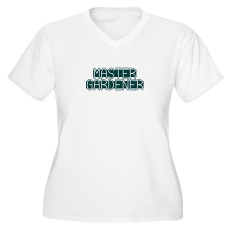 Master Gardener Women's Plus Size V-Neck T-Shirt