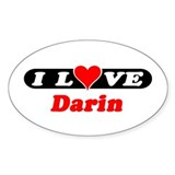 I Love Darin Oval Decal