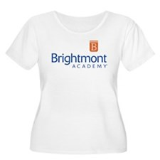 Brightmont Women's Scoop Neck Plus Size T-Shirt