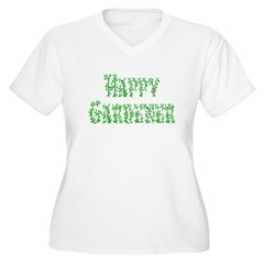 Happy Gardener Women's Plus Size V-Neck T-Shirt