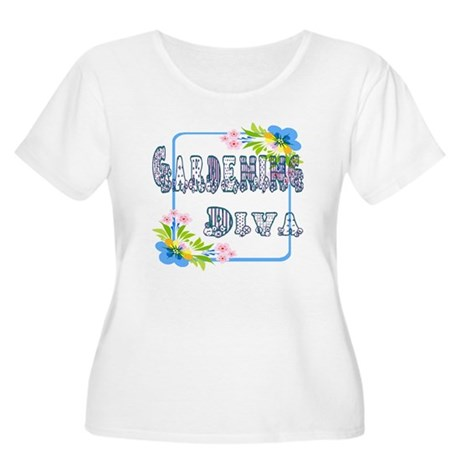 Gardening Diva Women's Plus Size Scoop Neck T-Shir