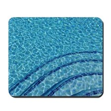 Light refracted in swimming pool water. Mousepad
