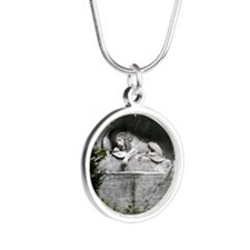 Lion of Lucerne Silver Round Necklace