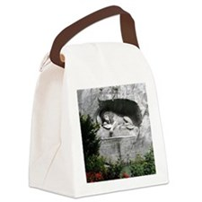 Lion of Lucerne Canvas Lunch Bag