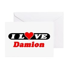 I Love Damion Greeting Cards (Pk of 10)