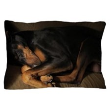 Doberman sleeping Pillow Case