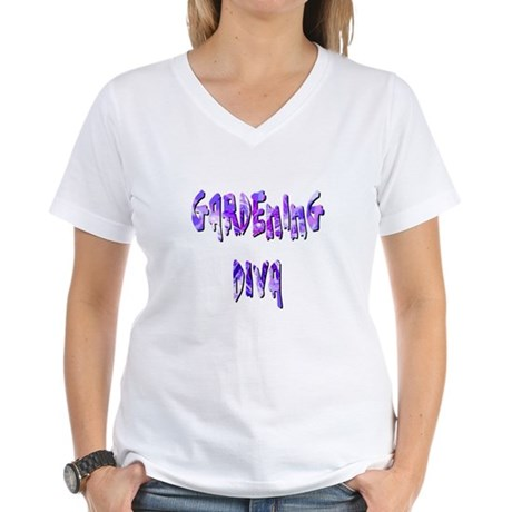 Gardening Diva Women's V-Neck T-Shirt