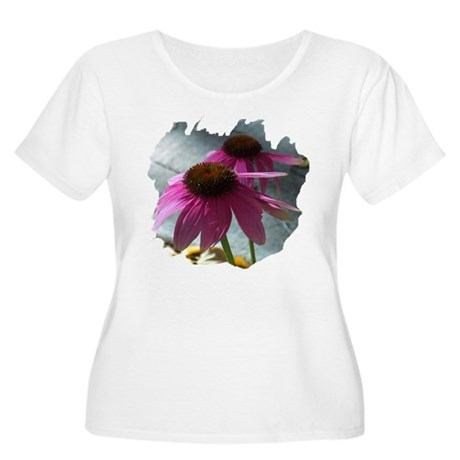 Windflower Women's Plus Size Scoop Neck T-Shirt