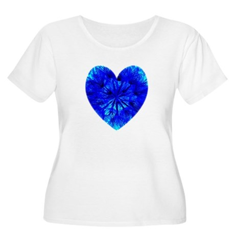 Heart of Seeds Women's Plus Size Scoop Neck T-Shir
