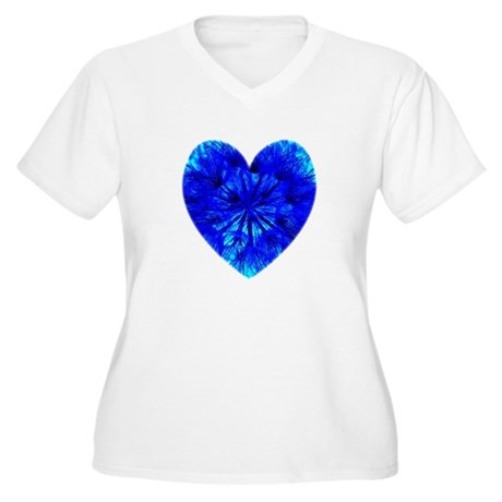 Heart of Seeds Women's Plus Size V-Neck T-Shirt