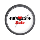 I Love Dale Wall Clock