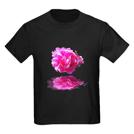 Peony Reflections Kids Dark T-Shirt