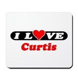 I Love Curtis Mousepad