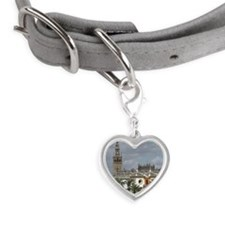 Seville cathedral Small Heart Pet Tag