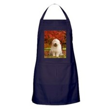 English Sheepdog acer tree Apron (dark)