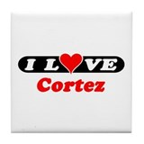 I Love Cortez Tile Coaster