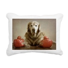 Elderly golden retriever Rectangular Canvas Pillow