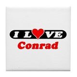 I Love Conrad Tile Coaster