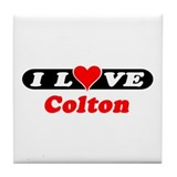 I Love Colton Tile Coaster