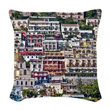 Positano, Italy Woven Throw Pillow