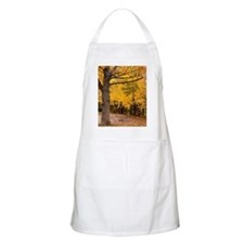 Swing under large maple tree with fall color Apron