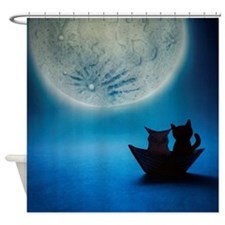 Owl and pussycat... Shower Curtain