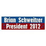 Brian Schweitzer for President Bumper Sticker