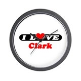 I Love Clark Wall Clock