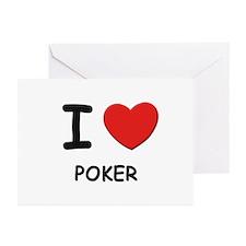 I love poker  Greeting Cards (Pk of 10)