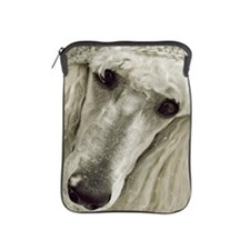Standard Poodle dog with hat iPad Sleeve