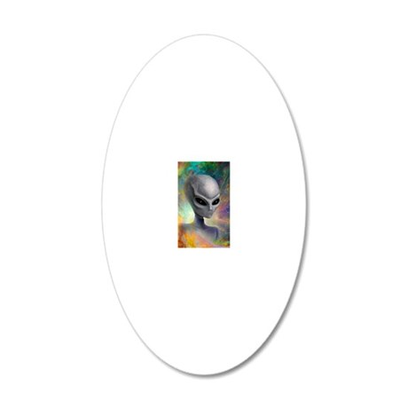iPhone 4 Slider Case_Alien_P 20x12 Oval Wall Decal