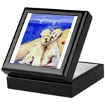 SOFT COATED WHEATEN TERRierS At the Beach Tile Box