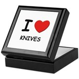 I love knives Keepsake Box