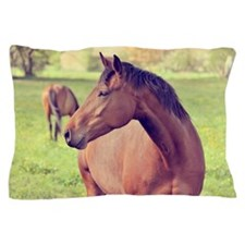 Brown horse Pillow Case