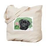 Rosie Black Labrador Tote Bag