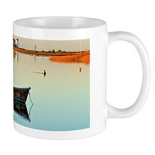 Lighthouse harbor at sunrise on Cape Co Mug