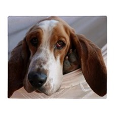 Basset Hound dog Throw Blanket